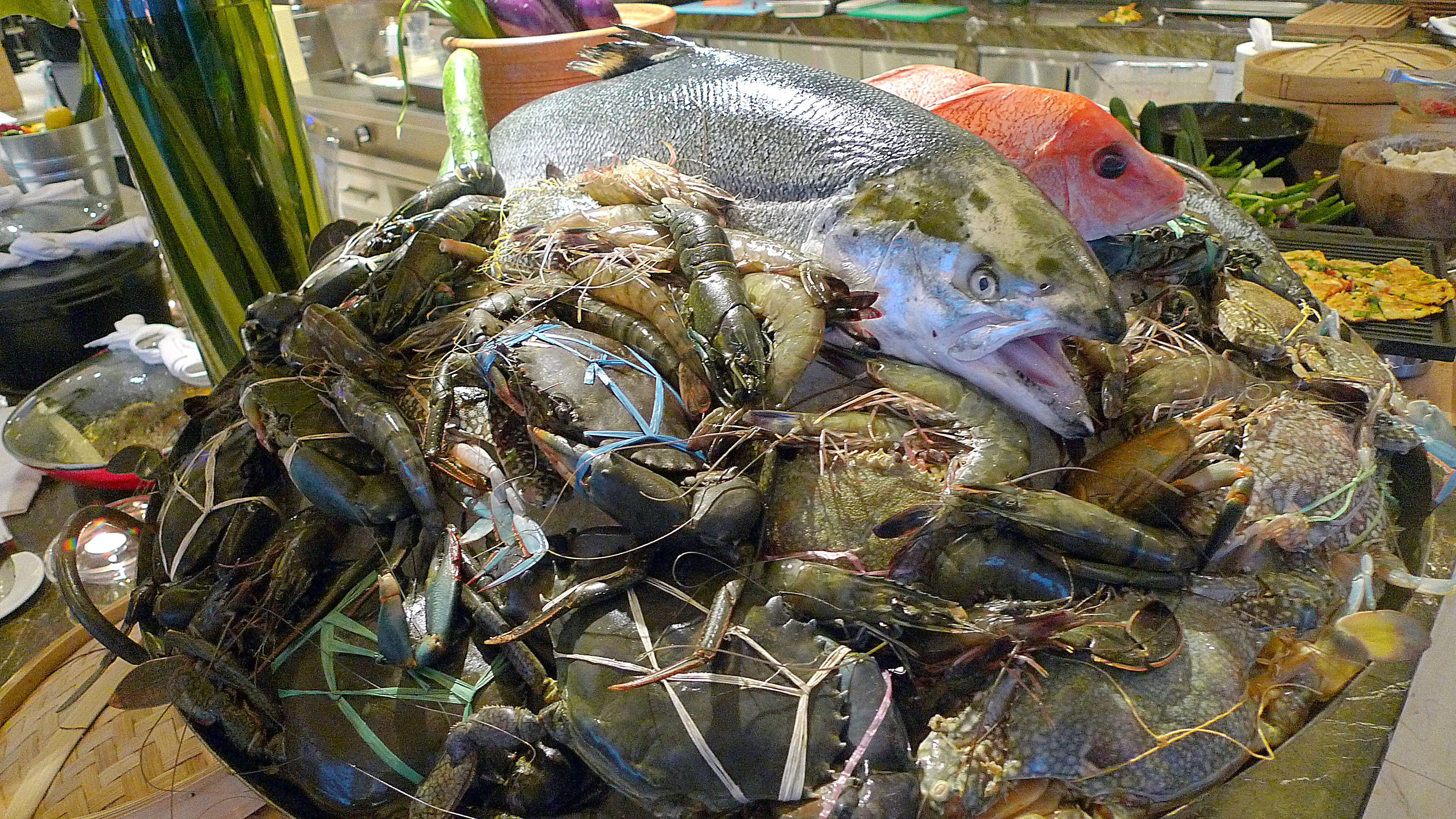 Raw Crabs and Fish-001